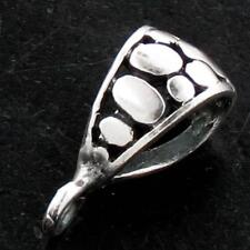"Handmade 925 Sterling Silver bail Finding 5Mm Diameter 1/4"" Wide 1.0Gr Bali"