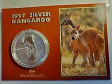 1997 Australia Silver Dollar 1 oz. Silver Kangaroo>Mintage: 72,850!