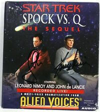 Autographed STAR TREK Spock Vs. Q The Sequel - Alien Voices - Compact Disc Audio