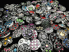 20pcs/pack Vintage 18mm Assorted Ginger Snaps Charms Buttons With Rhinestone