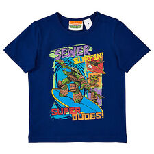 BNWT ~ LICENCED NINJA TURTLES BOYS SIZE 8 TSHIRT TOP SEWER SURFIN' ~ NEW