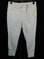 Melissa McCarthy Seven7 Skinny Leg Pencil Jeans, Size 16W - White #4444