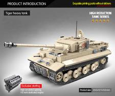 978 pcs WW2 Military Tiger Tank Building Blocks Bricks Weapons Soldiers Kids Toy