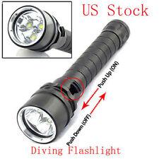 8000LM 3LED L2 Diving LED Flashlight Torch Lamp Waterproof 100M with Strap US