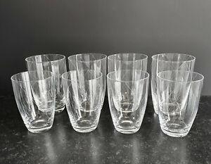 8 x Wassergläser Rautenschliff Gral Glas ? Schliff Wasser Saft Trinkglas Gläser