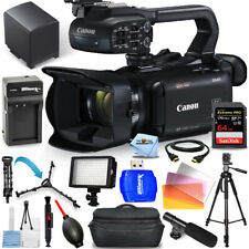 Canon Xa40 Professional Uhd 4K Camcorder Pal + 64Gb + Led Light + Tripod Bundle