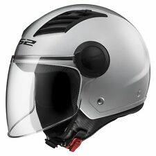 CASCO HELMET JET OF562 AIRFLOW GLOSS SILVER L LS2 SIZE XL