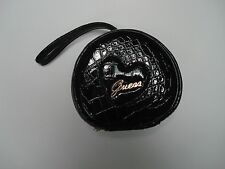 Cosmetic Case, Guess Black Faux Patent Leather 3 Piece - Nesting