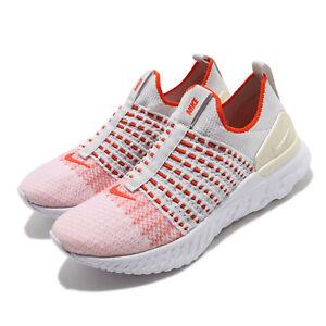 Nike Wmns React Phantom Run FK 2 Flyknit Grey Orange Women Running CJ0280-003