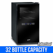 CyberCool DP32C Dual Zone Thermoelectric Wine Cooler - Black