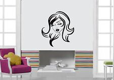 Wall Sticker Vinyl Decal Beautiful Girl Hair Hairstyle Beauty Salon (ig1119)