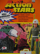 1970s vintage Airfix Action Stars army MEDIC action figure MIB toy RARE unused !