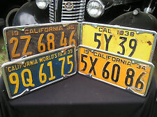 NEW SET 1929 TO 1939 VINTAGE STYLE CALIFORNIA LICENSE PLATE METAL FRAMES !