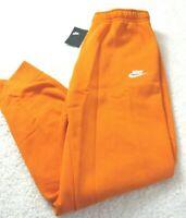 Nike Sportswear Mens Club Fleece Lined Jogger Pants Electro Orange Tapered NWT