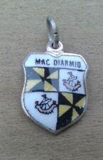 MacDiarmid Mac Diarmid Coat of Arms / Family Crest Silver Plated Enamel Charm
