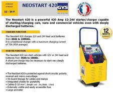 GYS NEOSTART 12 - 24 Volt Profi Akkuladegerät 420 Amp Anlasser