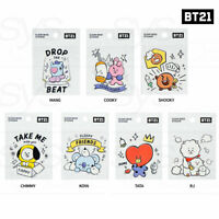 BTS BT21 Official Authentic Goods Clear Deco Sticker Ver3 7SET By Kumhong