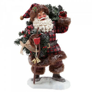 Possible Dreams Woodsman's Gifts Santa Father Christmas Figurine  Dept 56 New