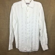 Vintage Versace Classic Men's White Button Front L/S Casual Shirt 16 1/2 US 42EU