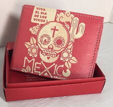BRAND NEW MEN WALLET HAND CRAFTED DESIGN  BI-FOLD  PRINTED WALLET IN GIFT BOX