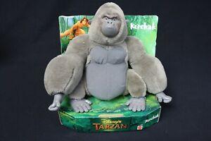 """Disney Tarzan 1999 Mattel Kerchak Grey Gorilla 9"""" Plush Stuffed Vinyl Animal New"""