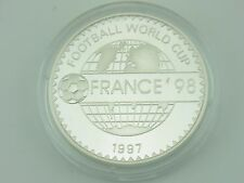500 Togrog Mongolei 1997 Fussball WM 1998 Silber polierte Platte PP M372