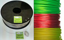 PET Transparent 3D Printer Filament, Glass Clear in 1.75mm 3mm, PETG NEW Colours