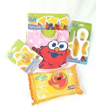 Baby Gift Set of Sesame Street Characters Comp,Brush Pacifier,Bib,and Wet Wipes