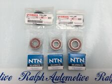 YAMAHA YBR125 2004-2014 NTN REAR WHEEL BEARING SET WITH SEALS AND SPROCKET BRNG