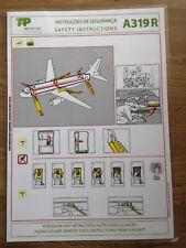 TAP Air Portugal A319 R Safety Card