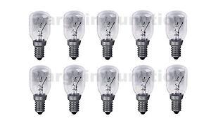 10 x Himalayan Salt Lamp Bulb 25W E14 Screw in Pygmy Bulbs Fridge Appliance Oven