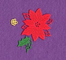 POINSETTIA # 2 Christmas die cuts scrapbook cards