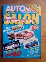 AUTO HEBDO n°542 1986 TOUTES LES NOUVEAUTES SALON 1987