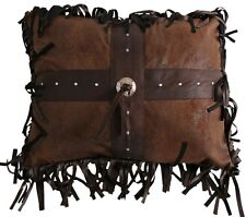 Concho Cross Pillow - Western - Fringed - 16 x 20 - Free Shipping