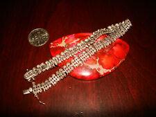 "Bracelet.925 (7 1/2""-Long) Beautiful Vintage Sterling Silver"