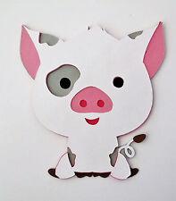 Moana Pua The Pig Die Cut Paper Piecing Scrapbook Embellishment