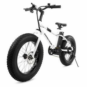 "Swagtron EB-6 20"" Electric Bike 7 Speed 350W Motor Fat Tire Mountain City E-Bike"