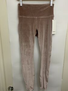 "Lululemon Wunder Lounge HR Tight 28"" *V NWT Spanish Oak Size 8 10 12 Velvet SPNO"