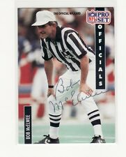 BOB MCELWEE NFL REFEREE  AUTOGRAPHED CARD WITH LETTER RARE HARD TO FIND