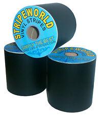 150mm Self Adhesive Matt Black vinyl stripe for car caravan sold by the metre