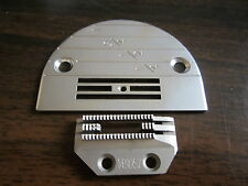 147150 SINGLE NEEDLE PLATE + 149057 FEED DOG FOR LIGHT MATERIAL INDUSTRIAL