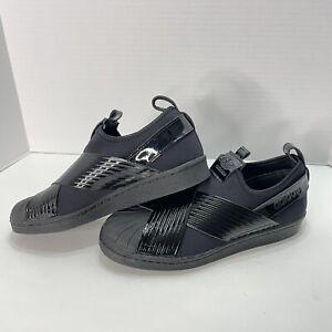 Adidas Women's Originals Superstar Slip-On Shoes Core Black Size 9 BD8055