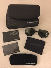 New Porsche Design Aviator Sunglasses P 1002A 57mm With Extra Set Of Lenses