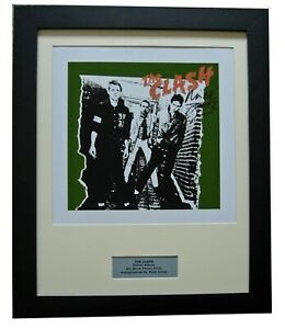 THE CLASH+SIGNED+FRAMED+LP+WHITE RIOT=100% AUTHENTIC+EXPRESS GLOBAL SHIP+PUNK