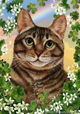 Clover House Flag - Brown Tabby Cat 31954