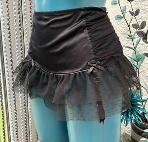 black ann summers wide deep suspender belt skirt size  14 new