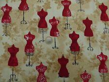 "Tissu patchwork Mannequins De Robert Kaufman "" Forget me not II "" acheté aux USA"