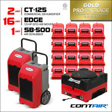 Water Damage Restoration Dehumidifiers and Air Movers and Air Scrubbers in Red