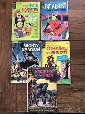 Gold Key Comic book Lot of 5 The Little Monsters, Fat Albert, Mighty Swanson +