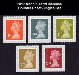 2017 M17L MACHINS £1.17, £1.40, £1.57, £2.27, £2.55 - SET 5v - Various options